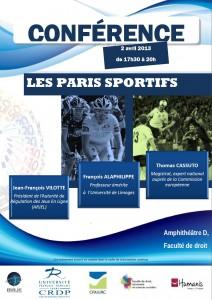 Conférence Les paris sportifs