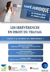 """Café juridique - """"Les irrévérences en droit du travail"""""""