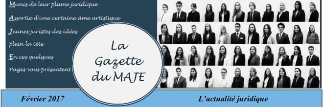 Gazette du MAJE n°5 – Février 2017
