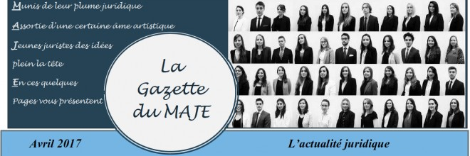 Gazette du MAJE N°6 – Avril 2017
