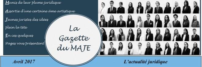 Gazette du MAJE N°6 – Avril 2017