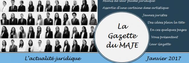 Gazette du MAJE n°4 – Janvier 2017
