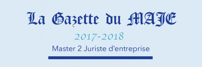 Gazette du MAJE n°10 – Avril 2018