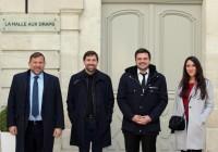 Grégoire LOISEAU, Julien BOURDOISEAU, Henri GUYOT et Inès TARTARIN.