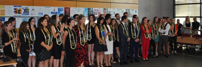 Remise des diplômes de la promotion du MAJE 2017 – 2018