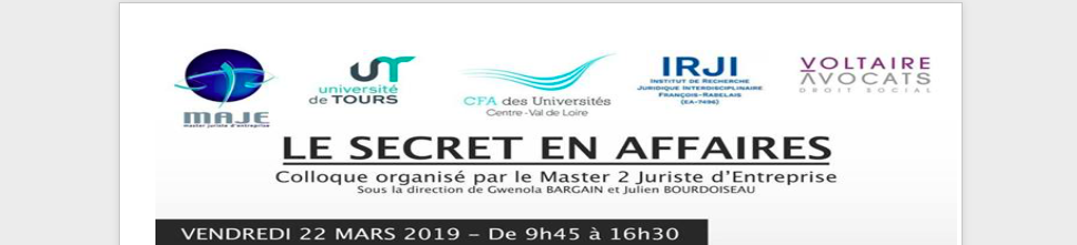 "Colloque ""secret des affaires"""